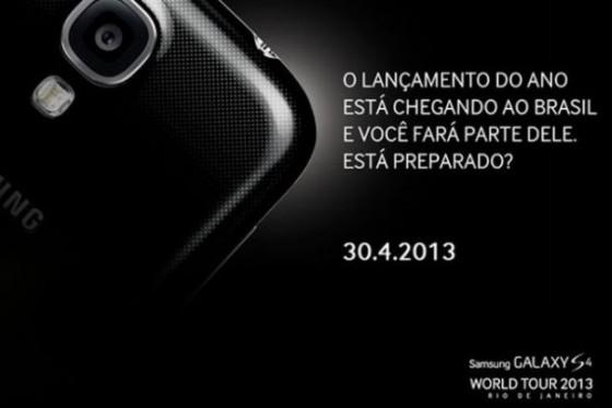 Galaxy S4 será lançado no Brasil em 30 de abril
